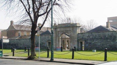 Photograph 3. Entrance to Beggars Bush Barracks - view from Haddington Road