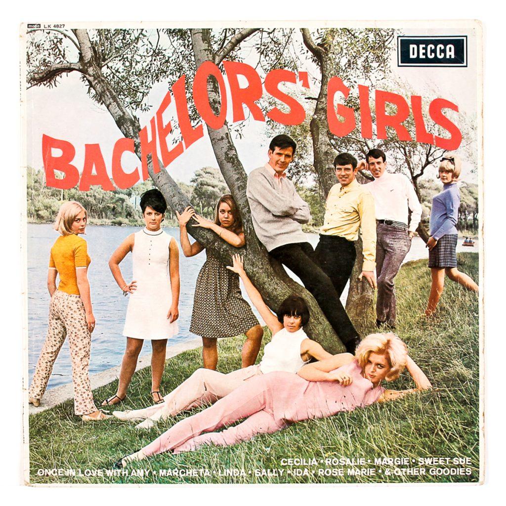 Bachelors' Girls ; The Bachelors; Decca (1966); Design: Decca Publicity Art Department ; Print: Clout & Baker Ltd. (England)