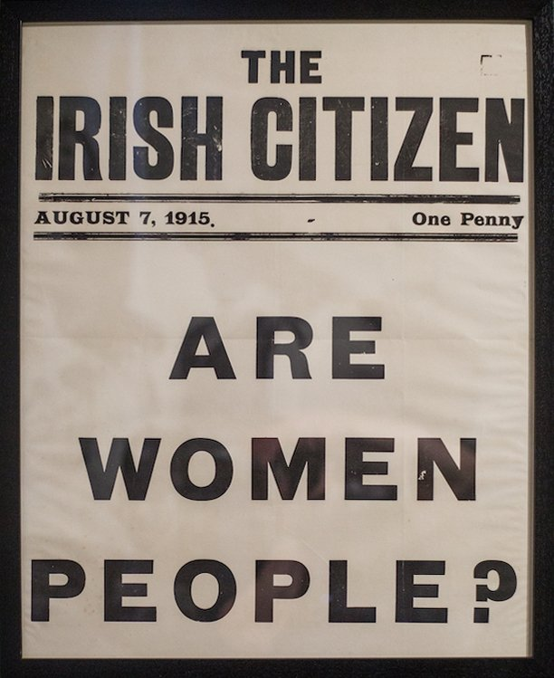 Broadside poster for The Irish Citizen suffrage newspaper, 1915; courtesy of the National Library of Ireland